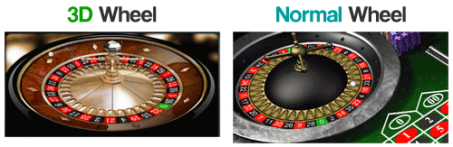3D Roulette vs Normal Roulette Graphics